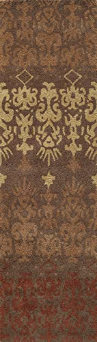 Momeni Rugs Habitat Collection, 100 Wool Hand Tufted Transitional Area Rug, 2 3 x 8 3 Runner, Brown