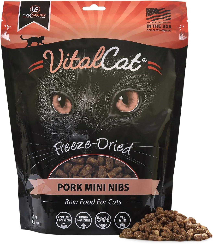 Vital Cat Freeze Dried Pork Mini Nibs Cat Food, 12 oz