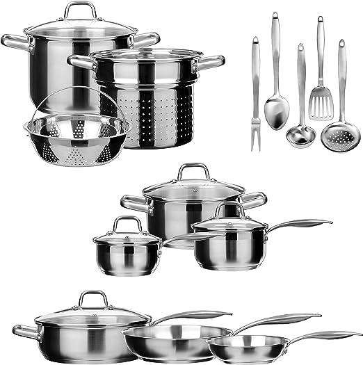 Amazon.com: Duxtop - Batería de cocina profesional de ...