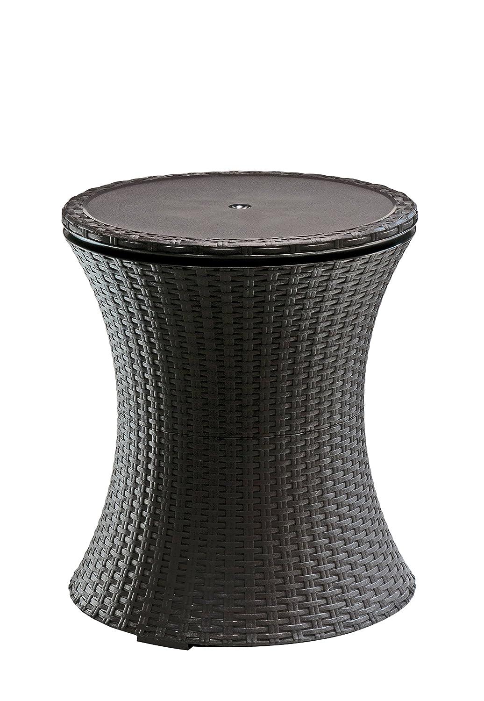 Keter, Tavolino da esterni con cesto porta-ghiaccio incorporato, Bianco/Blu 17186745