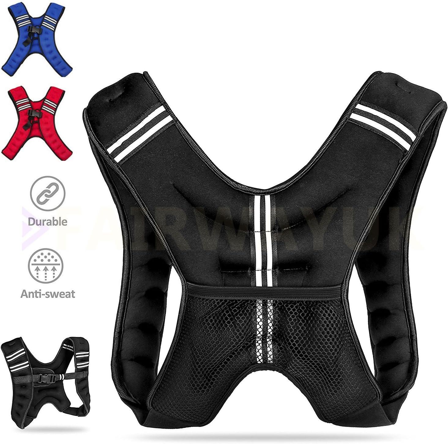 Gewichtsverlust und Laufen Xpccj Gewichtsweste St/ärke Gewichtsweste mit Stahlplatte f/ür Fitness-/Übungen verstellbare Gewichtsweste
