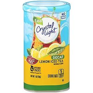 Crystal Light Lemon Iced Tea Drink, Decaffeinated, 1.0 oz Can