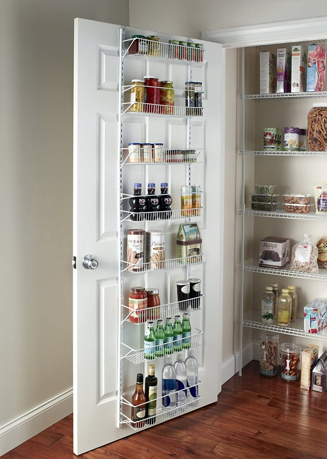 Amazon.com: Gracelove Over The Door Spice Rack Wall Mount Pantry ...