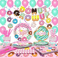 Moonmen Party Supply Set Disposable Tableware with Balloon, Foil Paper Plates Napkins Cups Straws for Weddings…
