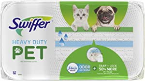 Swiffer Heavy Duty Wet Mopping Cloths for Hard Surface Floor Cleaning, Febreze Scented 10 Count