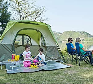 Timber Ridge Camping Tent 6 Person Instant Tent 10x10