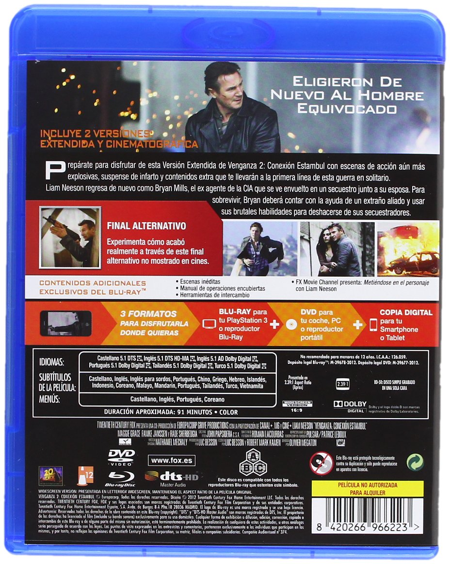 Amazon.com: Pack Venganza + Venganza 2: Conexión Estambul (Blu-Ray) (Import Movie) (European Format - Zone B2) (2013) Liam: Movies & TV