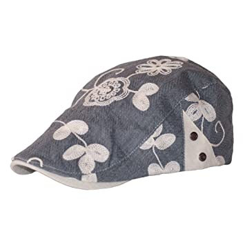 Dazoriginal Flat Cap Newsboy Cotton Bakerboy Dai Cap Hunting Hat Peak caps  Grey  Amazon.co.uk  Sports   Outdoors 798f1339d4f5