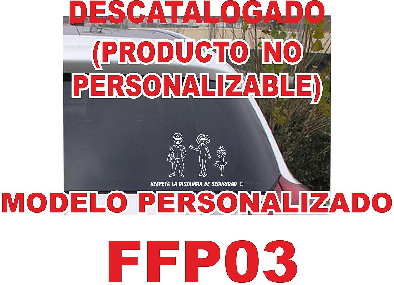 Pegatina de figuras de familia personalizada de 3 miembros FF03, crea tu familia divertida para el coche. NO COMPRAR AL VENDEDOR  ifx3wifx3w, son copias ilegales. VPM Original