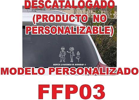 Pegatina de figuras de familia personalizada de 3 miembros FF03, crea tu familia divertida para el coche. NO COMPRAR AL VENDEDOR