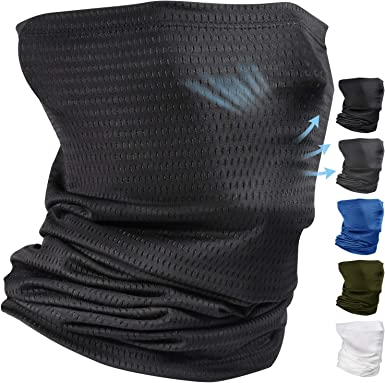 Comfortable Cooling Neck Gaiter Face Scarf Mask Covering Balaclava for Men  Summer Sun Dust Protection Running Fishing Breathable Gator Neck Mask  Headband Bandana Face Cover Black at Amazon Men's Clothing store