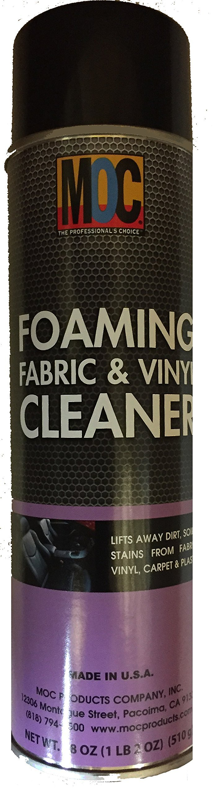 MOC Professional Foaming Fabric & Vinyl Stain Cleaner (Professional Detailer's #1 Choice)
