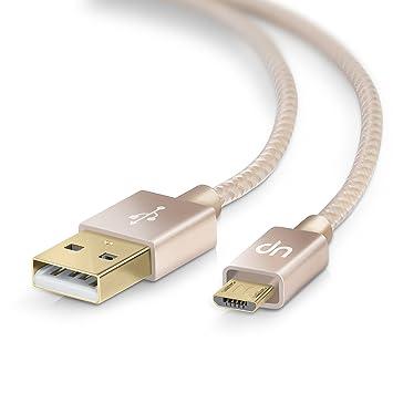 0,5m Cable MicroUSB a USB de alta velocidad - Nylon trenzado - Cable cargador y de datos - Cable de carga rápida - para Android Samsung HTC Motorola ...