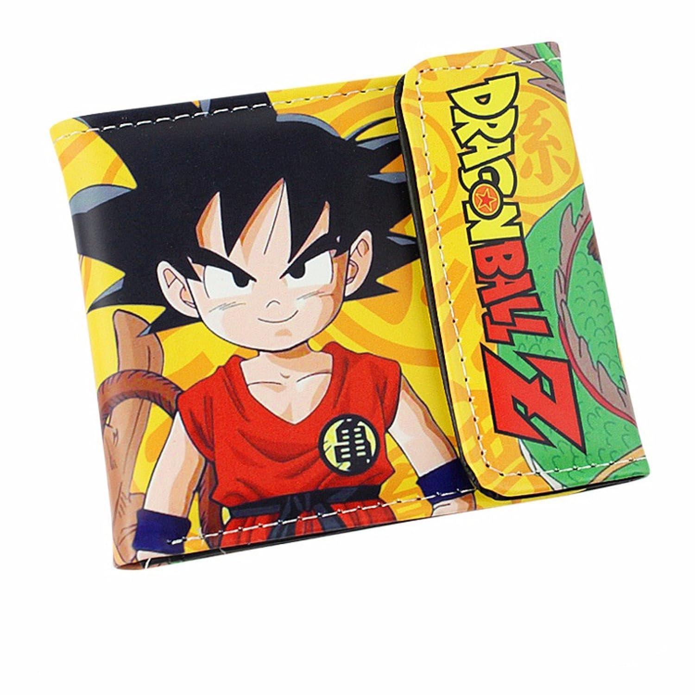 new Cuero Piel Cartera Multi-bolsillos Cartera hombre Purse Popular Dragon Ball Z Dragon Ball rare animanga