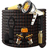 Expandable Garden Hose Kit 50-100 ft - Superior Strength 3750D - 4-Layers Latex, Extra-Strong Brass Connector- 10-Way…