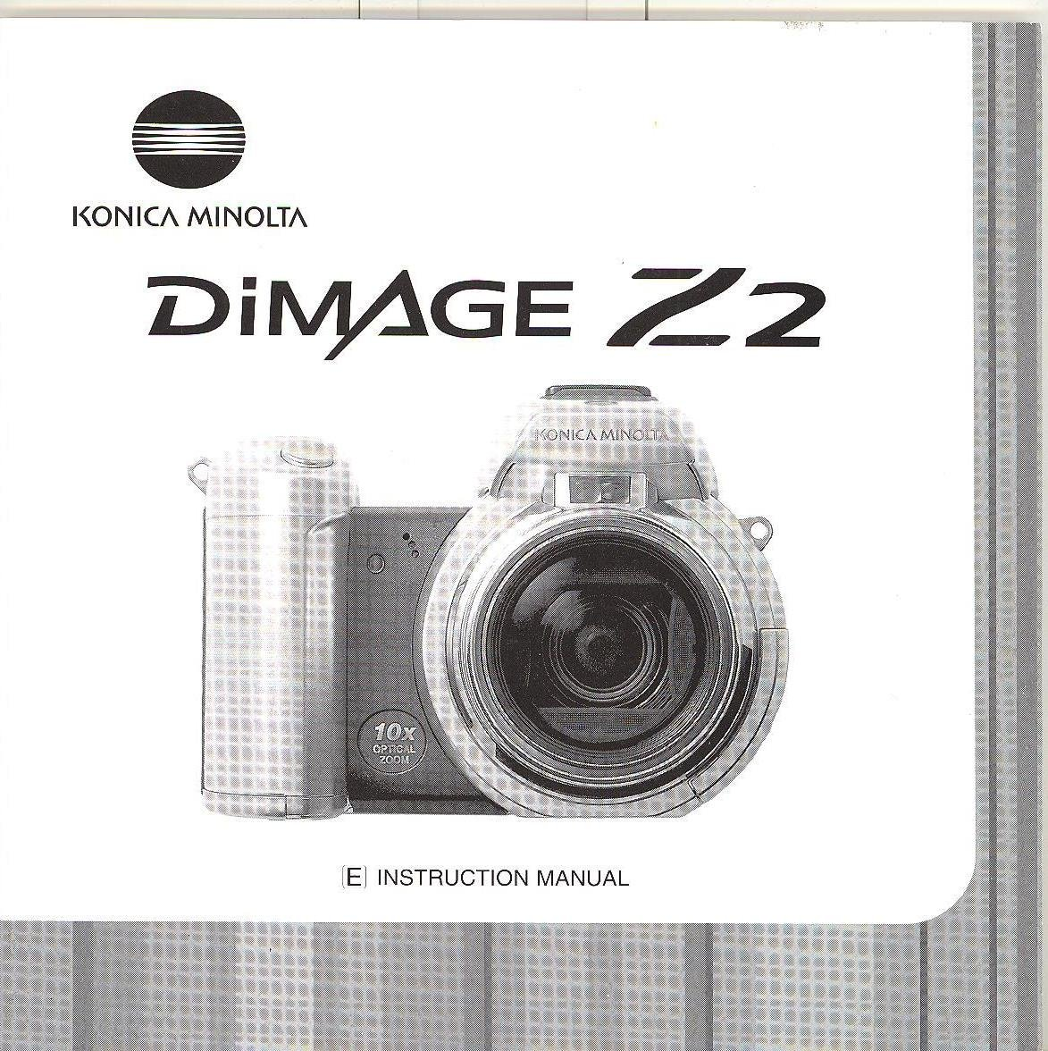 Konica Minolta DiMage Z2 Original Instruction Manual: Amazon