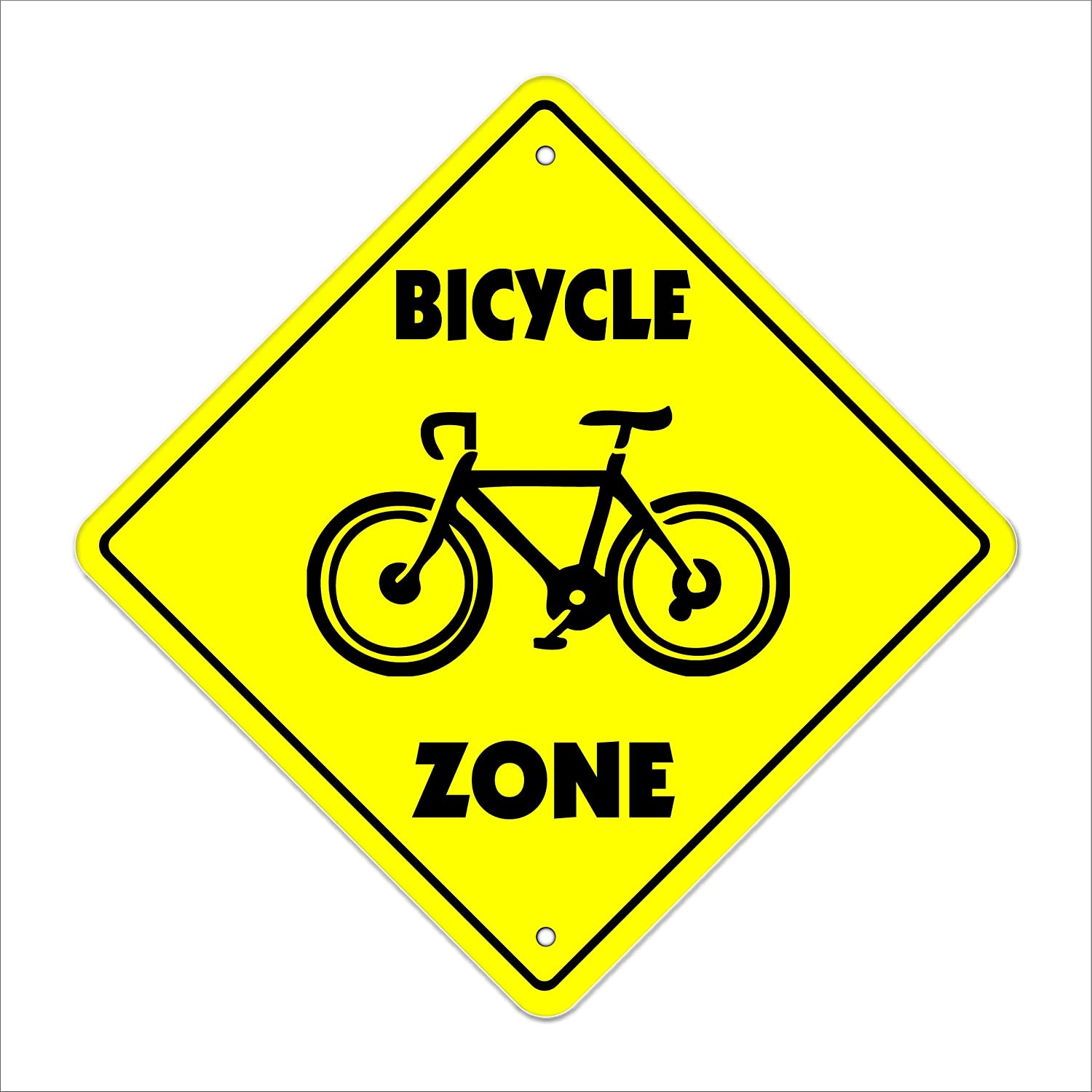 20 Tall Plastic Sign bike ride mountain road tire pump tube Indoor//Outdoor Bicycle Crossing Sign Zone Xing
