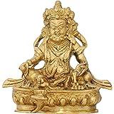 Kuber Statue Figurine Hindu God of Wealth Diwali Puja Brass 5.5 Inch