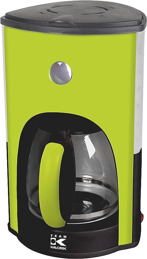 Team Kalorik Cafetera de filtro con capacidad 1.8 L, Jarra de Vidrio, Hasta 15 tazas, 1000 W, Verde: Amazon.es: Hogar
