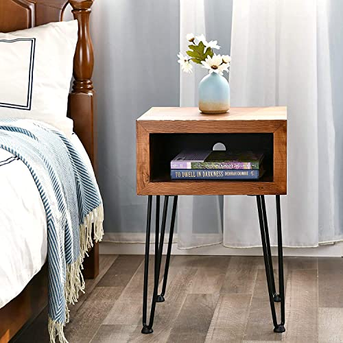 Cheap WELLAND Solid Pine Wood Nightstand Edge End Table Side Table Coffee Table modern nightstand for sale