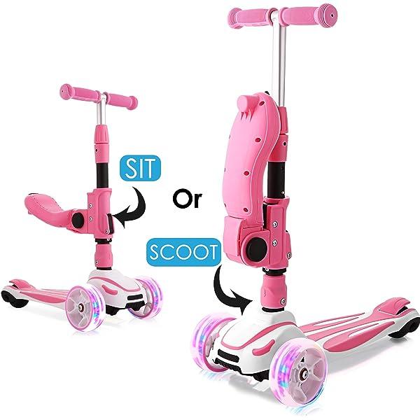Hikole Smibie Scooter para niños Patinete de 3 Ruedas con ...