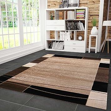 Wunderbar Teppich Kariert Retro Muster Meliert In Braun Schlafzimmer Wohnzimmer  60x100 Cm