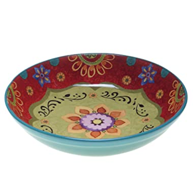 Certified International 22467 Tunisian Sunset Serving/Pasta Bowl, 13.25  x 3 , Multicolor