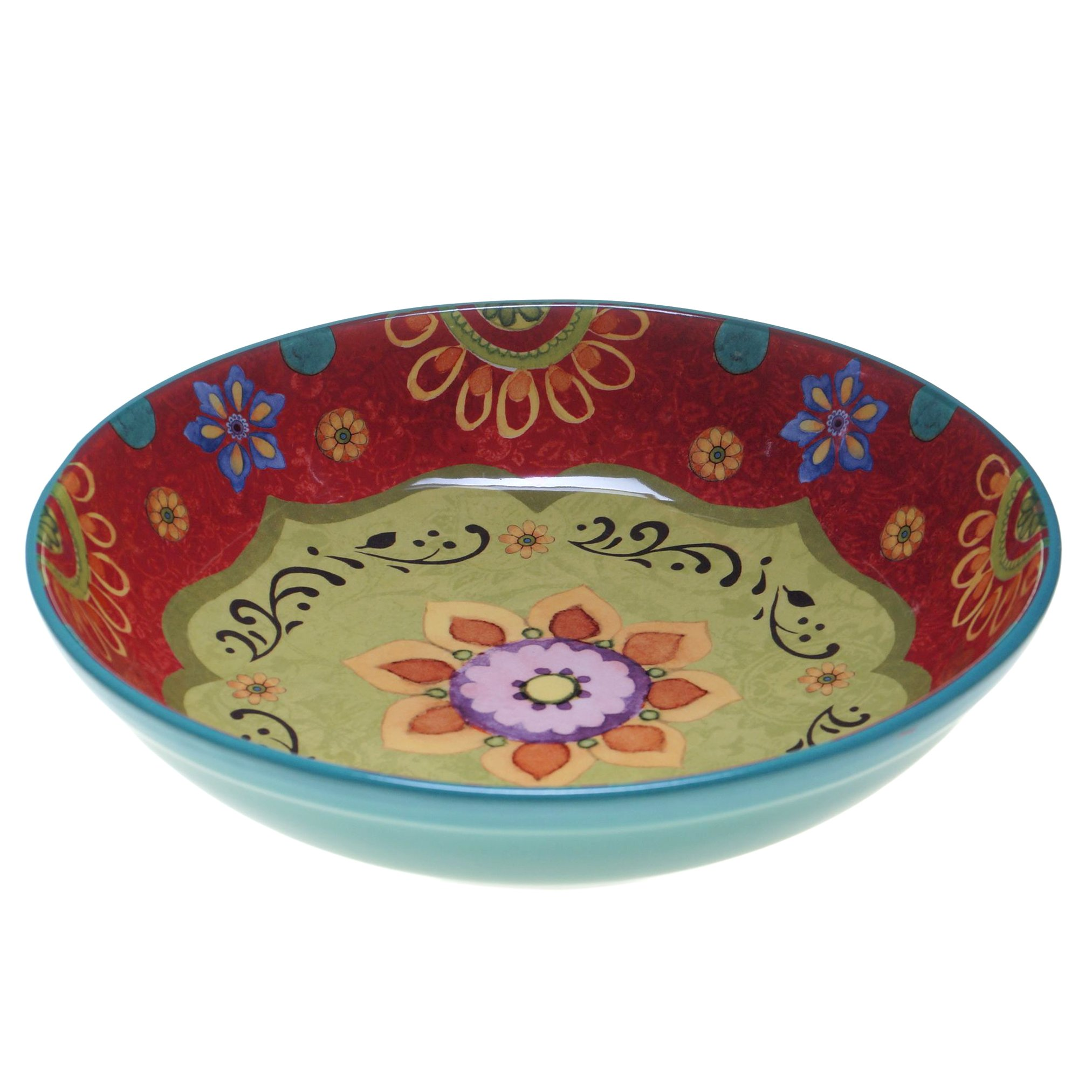 Certified International 22467 Tunisian Sunset Serving/Pasta Bowl, 13.25'' x 3'', Multicolor