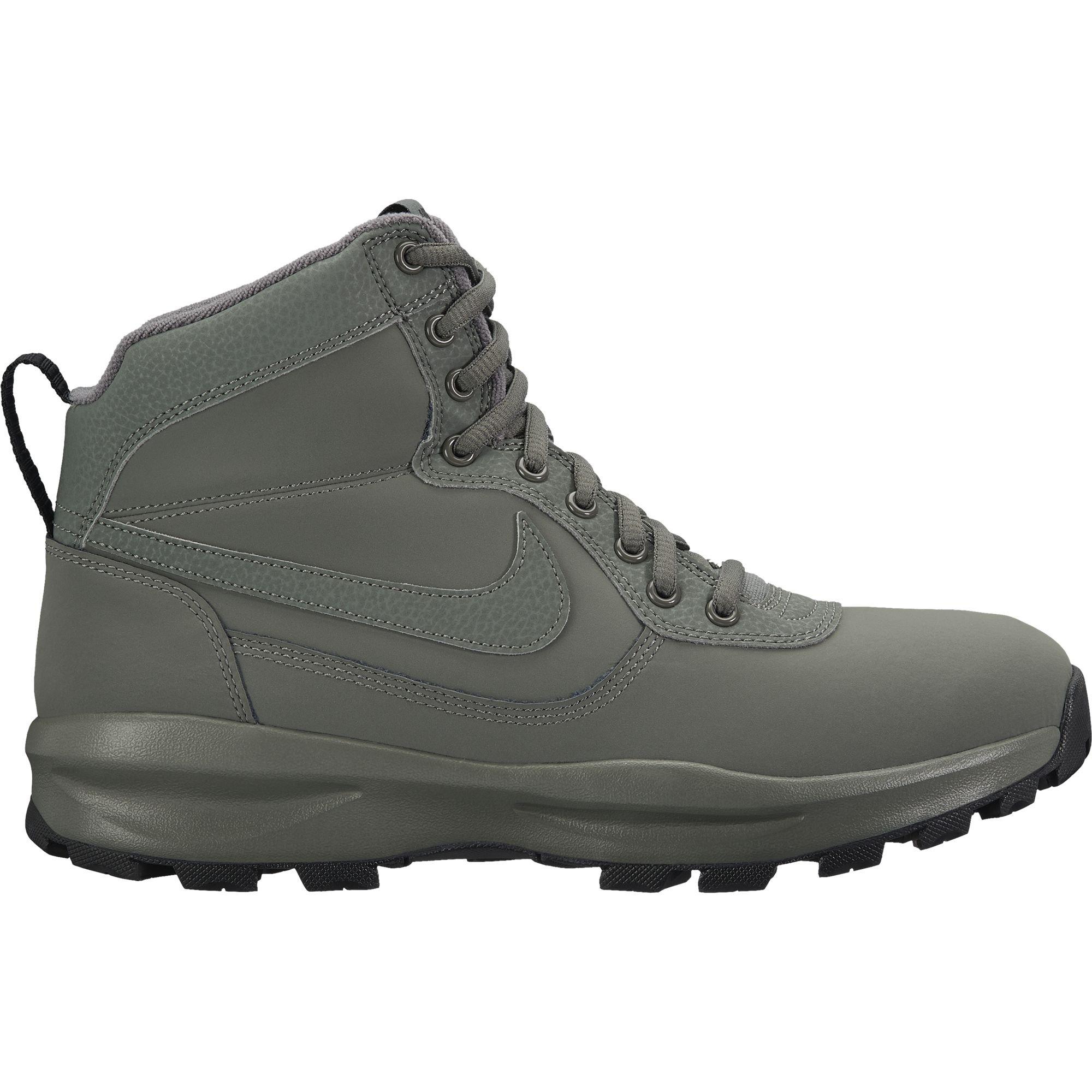 28f464dad1b Galleon - Nike Mens Manoadome Leather Boots River Rock/Black 844358 ...