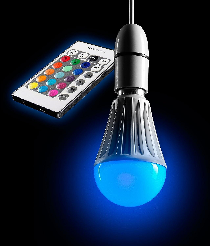 AURAGLOW Ferngesteuertes 10 W LED-Leuchtmittel mit Farbwechsel E27 ...