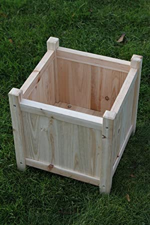 Attractive Small Wooden Garden Planter Or Plant Pot Cover For Indoor Or Outdoor Use