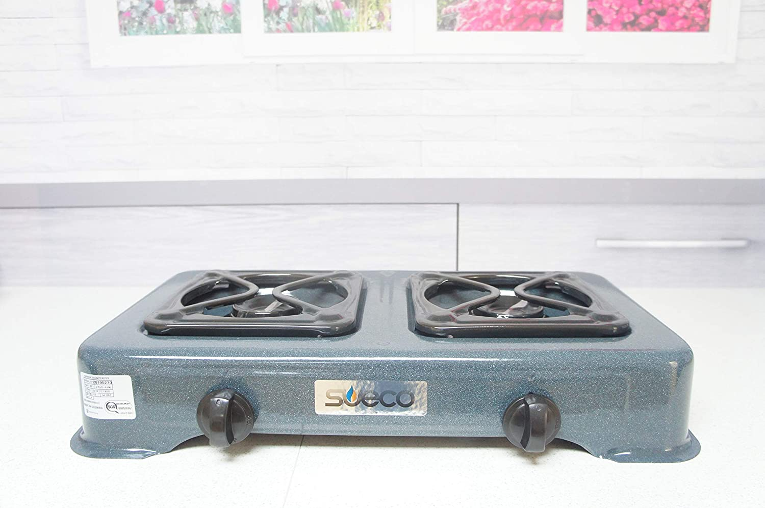 Sueco Double Portable Propane Gas Stove Large Burner With Hose Regulator