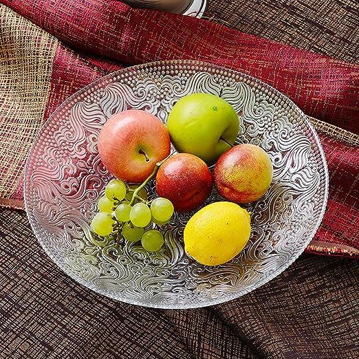 Frutero redondo transparente de estilo europeo con plato ...
