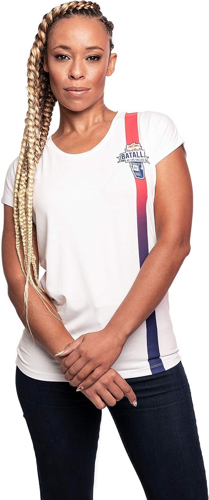Red Bull Batalla Fading Camiseta, Blanco Mujer Top, Batalla de los ...