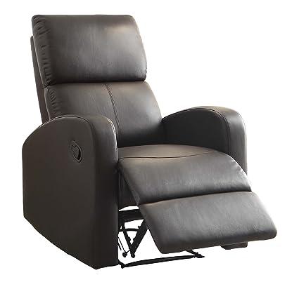 Homelegance 8404DB 1 Reclining Chair, Dark Brown Bi Cast Vinyl
