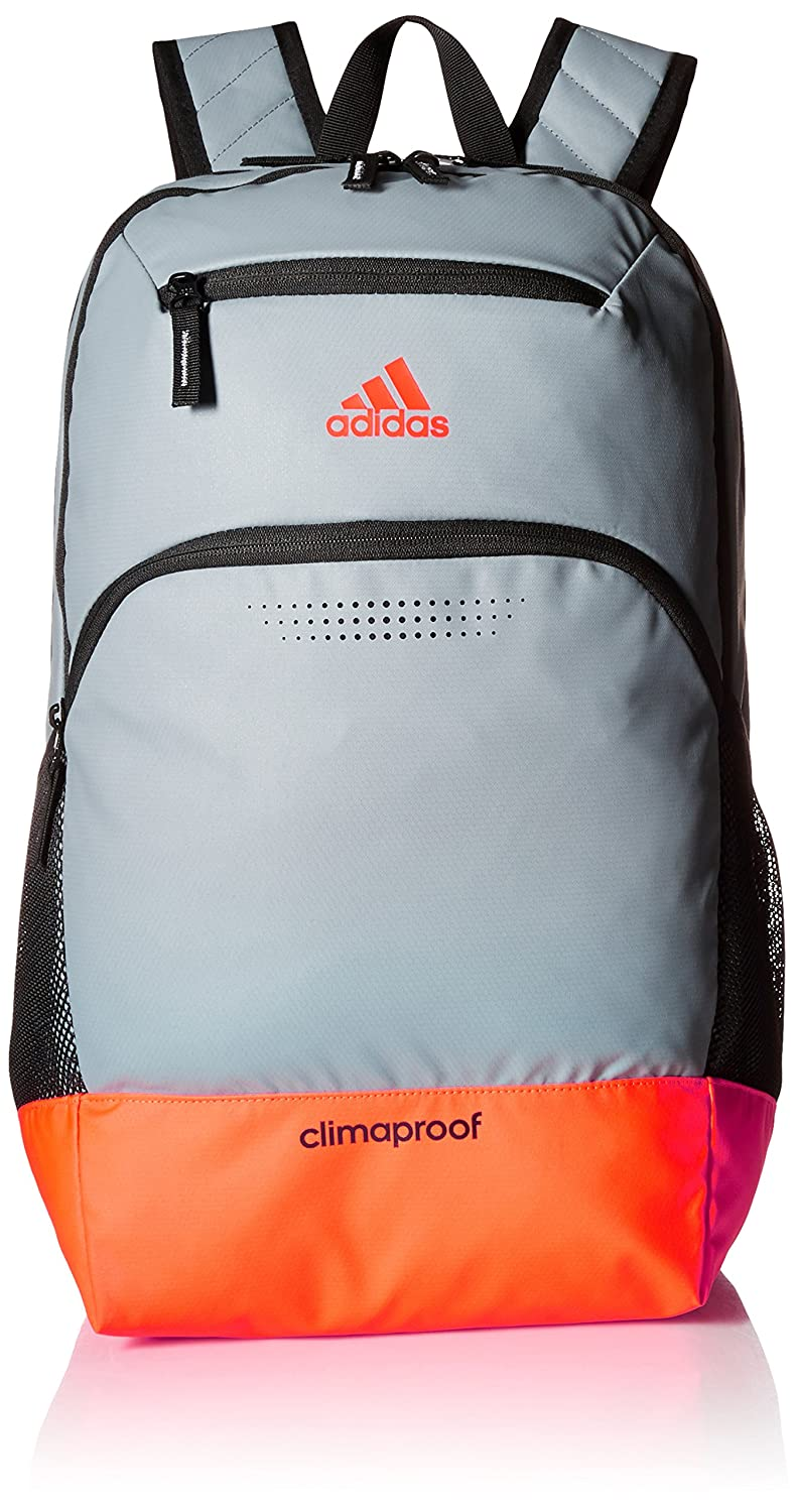 half off f1a1f deacd Amazon.com  adidas Rumble Backpack, Grey Solar Red Black Neo White, One  Size  Clothing