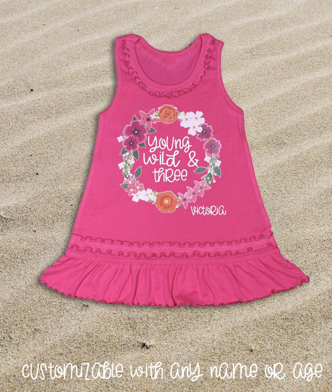 3rd Birthday Outfit Young Wild and Three Dress 3rd Birthday Girl Dress Third Birthday Girl Third Birthday Dress Girl 3rd Birthday Dress