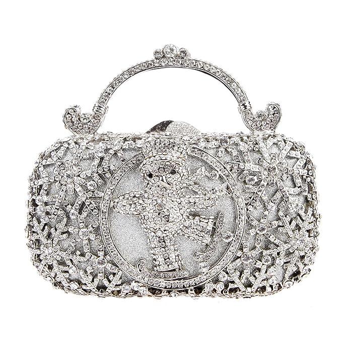 ac04b01f7021c アーニーメイメ)Bonjanvye 女性のイブニングバッグのためのスノーマンメタルハンドル財布クラッチ