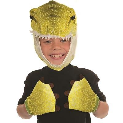 Underwraps Kid\'s Children\'s Animal Pack Dress Up Kit - T-Rex Green Childrens Costume, Green, One Size: Clothing [5Bkhe0200503]