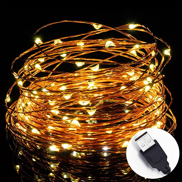 176 opinioni per Solla 10 metri Stringa fata luce 100 LED USB IP67 impermeabile filo di rame