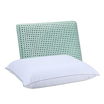 SleepJoy Viscofresh ventilación de Espuma de Memoria Almohada con té Verde, Poliuretano, Verde, Estándar: Amazon.es: Hogar