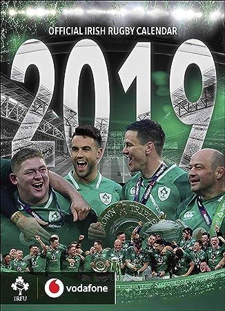Rugby Calendar 2019 IRFU Irish Rugby Official 2019 A3 Wall Calendar Published by