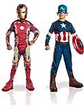 Marvel 155014S - Disfraces para niños, Avengers: Captain America Iron Man 2, talla S