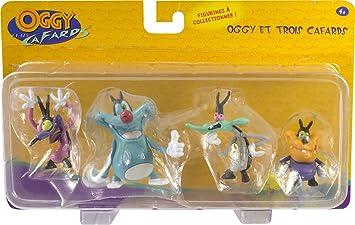 Lansay Figura Oggy y 3, cucarachas 11204: Amazon.es: Juguetes y ...