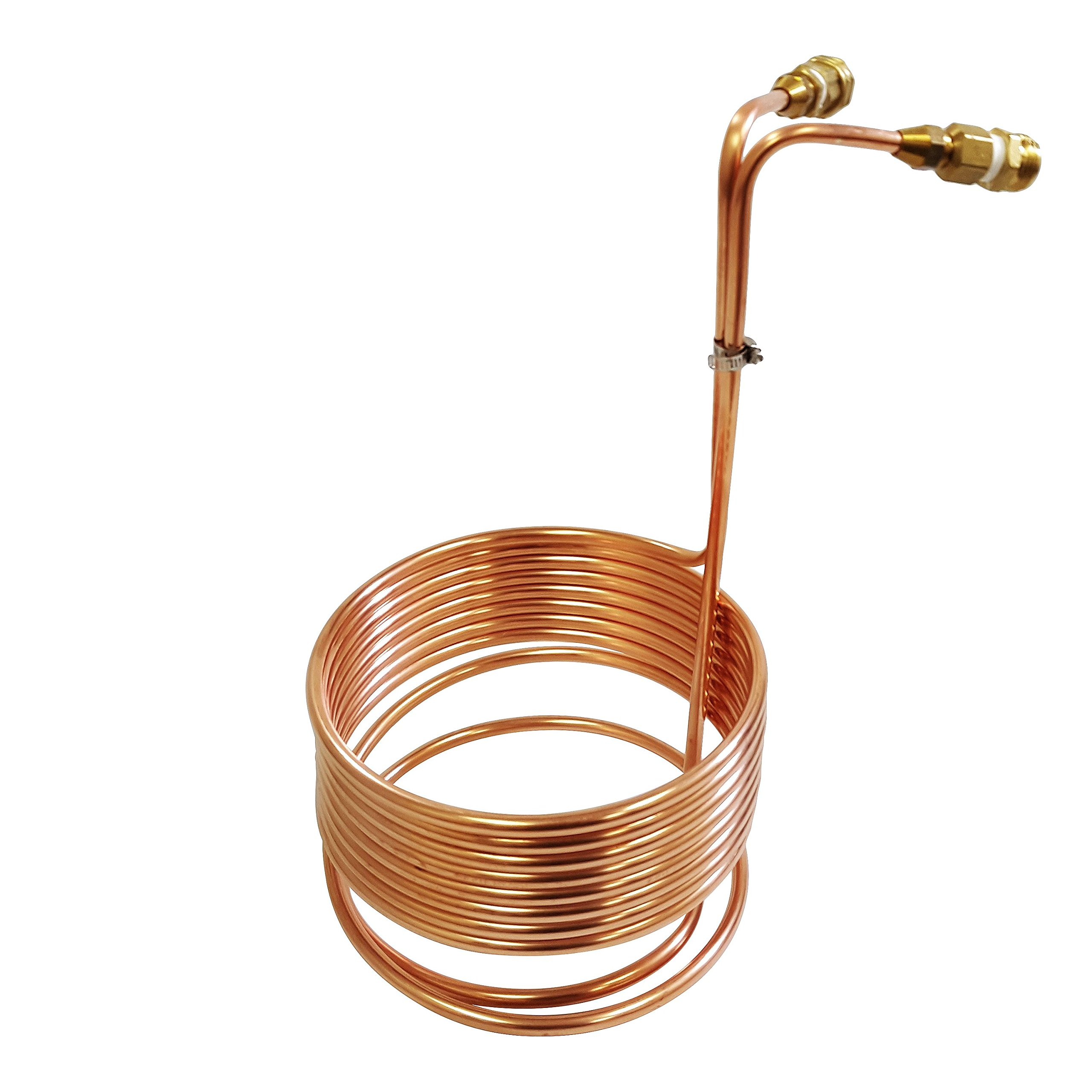 Copper Coil Immersion Chiller 25 Feet Length with Drain Line