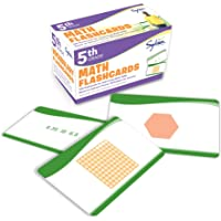 5th Grade Math Flashcards: 240 Flashcards for Improving Math Skills Based on Sylvan's Proven Techniques for Success (Sylvan Math Flashcards)