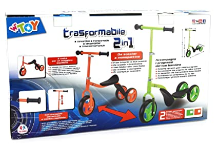 Amazon.com: Globo 38038 Summer 2 in 1 Scooter and Ride On ...