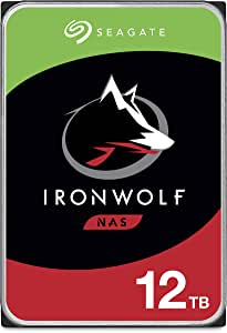 Seagate IronWolf 12TB NAS Internal Hard Drive HDD - 3.5 Inch SATA 6Gb/s 7200 RPM 256MB Cache for RAID Network Attached Storage - Frustration Free Packaging (ST12000VN0008)