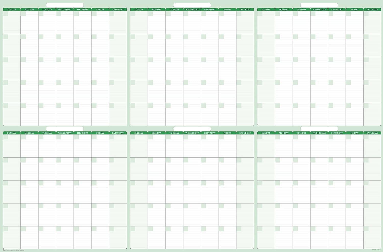 6-month / 180-day Dry / wet-erasable壁カレンダー38