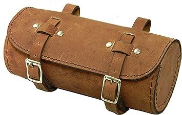 Genuine Leather Bicycle Saddle Bag Utility Tool Box kit bike vintage handmade